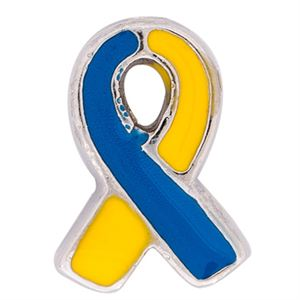 Picture of Yellow/Blue Ribbon: Down Syndrome Charm
